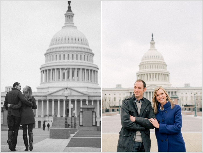 jason keefer photography washington dc wedding photographer engagement capitol hill cute black and white