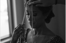 jason keefer photography hindu indian wedding newport news hampton roads marriott at city center black and white indian bride