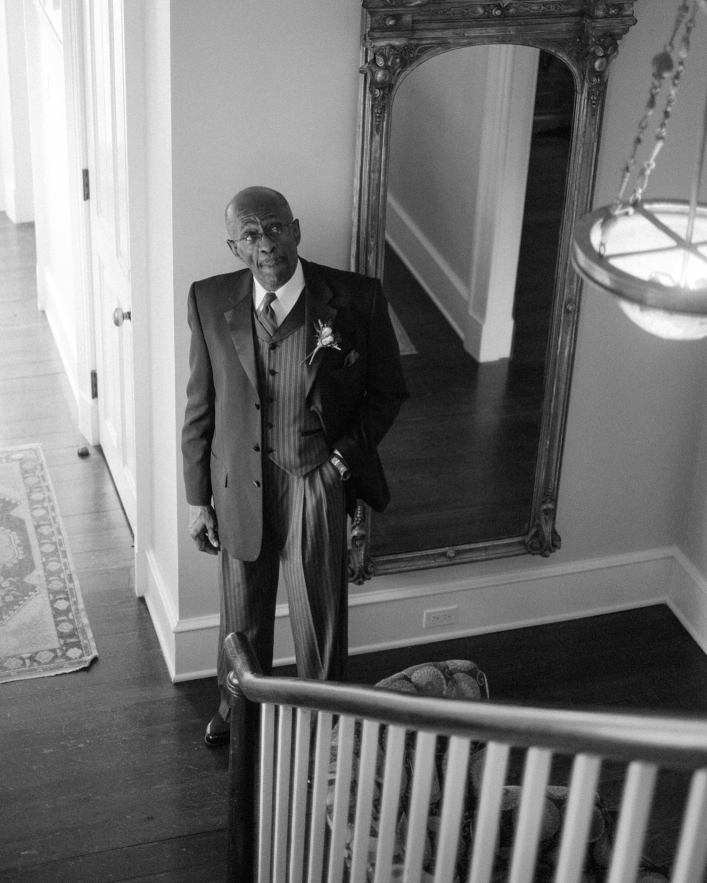 Charlottesville, VA Jason Keefer Photography the inn at willow grove orange wedding african american bride and father black and white