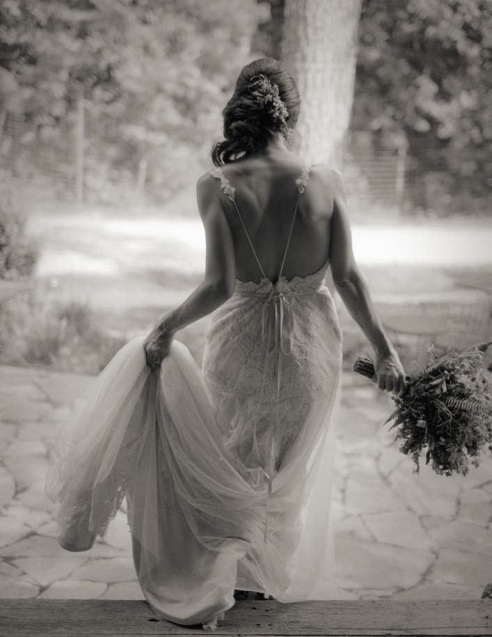 jason keefer photography delfosse winery faber virginia wedding bridal portrait black and white