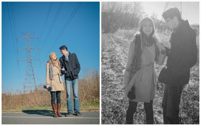 jason keefer photography charlottesville wedding photographer riverview park engagement blue sky black and white