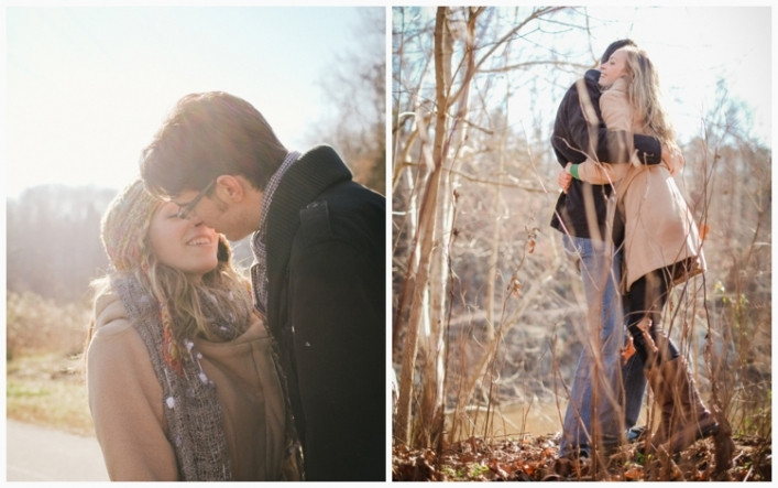 jason keefer photography charlottesville wedding photographer riverview park engagement kissing