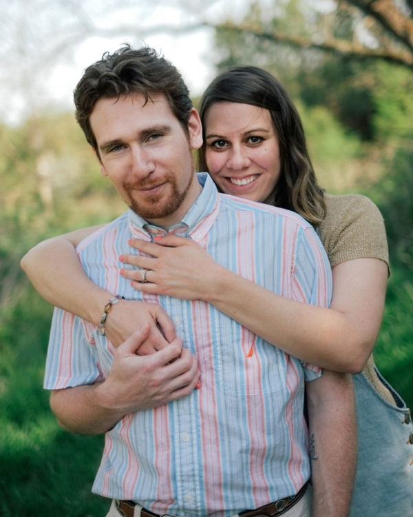 fluvanna county pleasant grove park engagement portraits spring