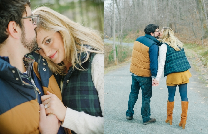 jason keefer photography charlottesville fall engagement kemper park monticello trail blue and brown