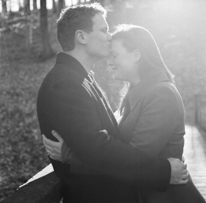 jason keefer photography charlottesville wedding engagement portraits black and white film sun flare