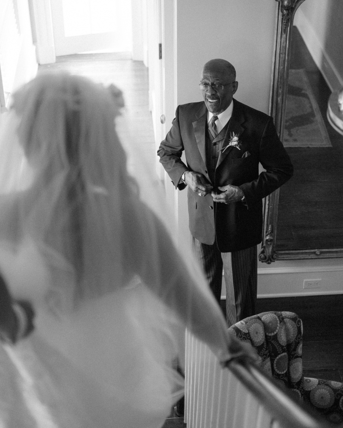 Charlottesville, VA Jason Keefer Photography the inn at willow grove orange wedding african american bride father seeing each other for first time